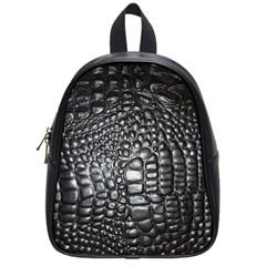 Black Alligator Leather School Bags (Small)