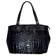 Black Alligator Leather Office Handbags