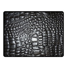 Black Alligator Leather Fleece Blanket (small)