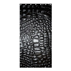 Black Alligator Leather Shower Curtain 36  X 72  (stall)