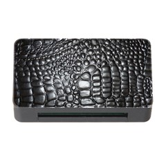 Black Alligator Leather Memory Card Reader With Cf