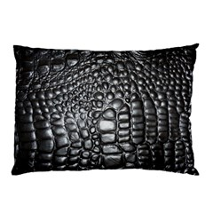 Black Alligator Leather Pillow Case (two Sides)