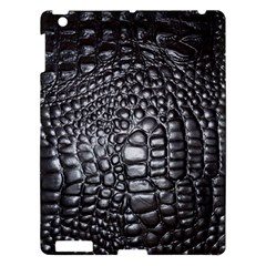 Black Alligator Leather Apple Ipad 3/4 Hardshell Case