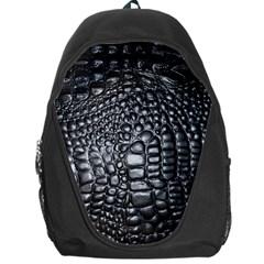 Black Alligator Leather Backpack Bag