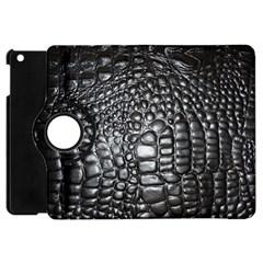 Black Alligator Leather Apple Ipad Mini Flip 360 Case
