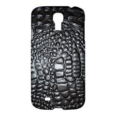 Black Alligator Leather Samsung Galaxy S4 I9500/I9505 Hardshell Case