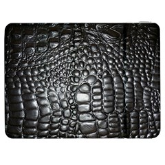 Black Alligator Leather Samsung Galaxy Tab 7  P1000 Flip Case