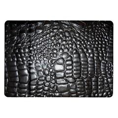 Black Alligator Leather Samsung Galaxy Tab 10.1  P7500 Flip Case