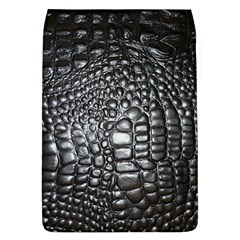 Black Alligator Leather Flap Covers (l)