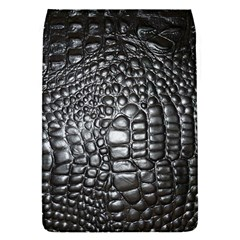 Black Alligator Leather Flap Covers (s)