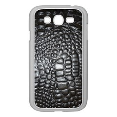Black Alligator Leather Samsung Galaxy Grand Duos I9082 Case (white)