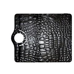 Black Alligator Leather Kindle Fire Hdx 8 9  Flip 360 Case