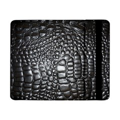 Black Alligator Leather Samsung Galaxy Tab Pro 8 4  Flip Case
