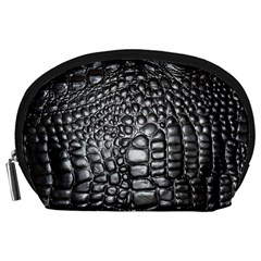 Black Alligator Leather Accessory Pouches (Large)