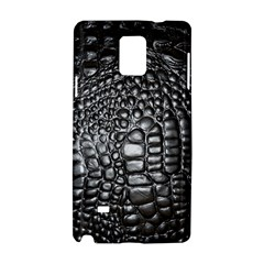 Black Alligator Leather Samsung Galaxy Note 4 Hardshell Case