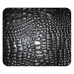 Black Alligator Leather Double Sided Flano Blanket (small)