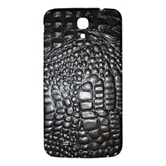 Black Alligator Leather Samsung Galaxy Mega I9200 Hardshell Back Case