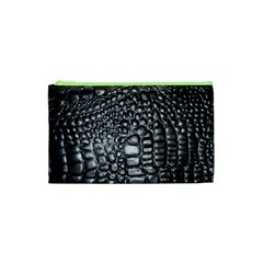 Black Alligator Leather Cosmetic Bag (XS)