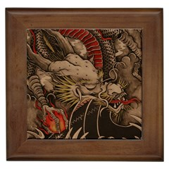 Chinese Dragon Framed Tiles