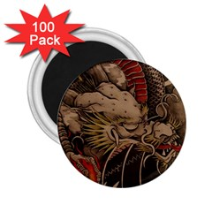 Chinese Dragon 2 25  Magnets (100 Pack)