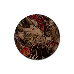 Chinese Dragon Rubber Round Coaster (4 Pack)