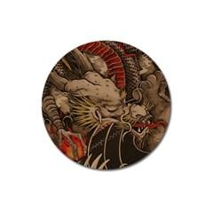 Chinese Dragon Magnet 3  (round)