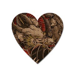 Chinese Dragon Heart Magnet