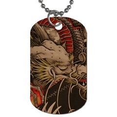Chinese Dragon Dog Tag (One Side)