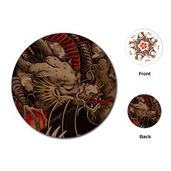 Chinese Dragon Playing Cards (round)