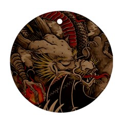 Chinese Dragon Round Ornament (two Sides)