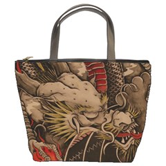 Chinese Dragon Bucket Bags