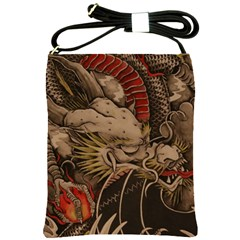 Chinese Dragon Shoulder Sling Bags