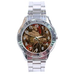Chinese Dragon Stainless Steel Analogue Watch