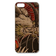 Chinese Dragon Apple Seamless Iphone 5 Case (clear)