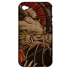 Chinese Dragon Apple iPhone 4/4S Hardshell Case (PC+Silicone)