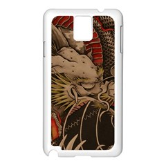 Chinese Dragon Samsung Galaxy Note 3 N9005 Case (white)