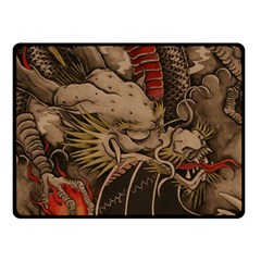 Chinese Dragon Double Sided Fleece Blanket (small)
