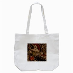 Chinese Dragon Tote Bag (White)