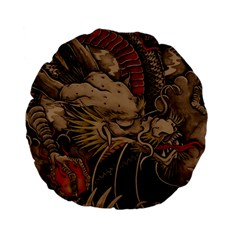 Chinese Dragon Standard 15  Premium Flano Round Cushions