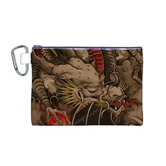 Chinese Dragon Canvas Cosmetic Bag (m)