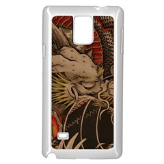 Chinese Dragon Samsung Galaxy Note 4 Case (White)