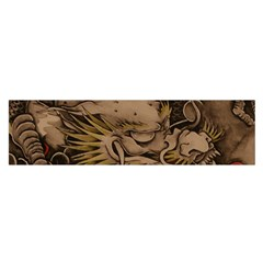 Chinese Dragon Satin Scarf (oblong)