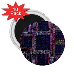 Technology Circuit Board Layout Pattern 2 25  Magnets (10 Pack)