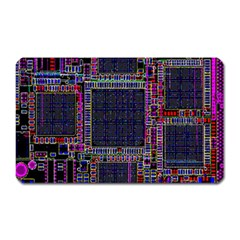 Technology Circuit Board Layout Pattern Magnet (Rectangular)