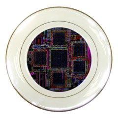 Technology Circuit Board Layout Pattern Porcelain Plates