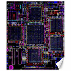 Technology Circuit Board Layout Pattern Canvas 20  X 24