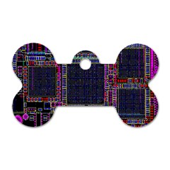 Technology Circuit Board Layout Pattern Dog Tag Bone (two Sides)