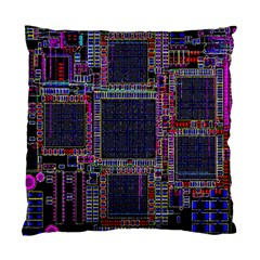 Technology Circuit Board Layout Pattern Standard Cushion Case (two Sides)
