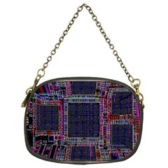 Technology Circuit Board Layout Pattern Chain Purses (two Sides)