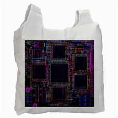 Technology Circuit Board Layout Pattern Recycle Bag (One Side)